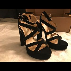 Shoes - Black Chunky Heels. NEW in box.